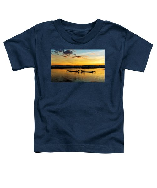 Fisherman On Their Boat Toddler T-Shirt