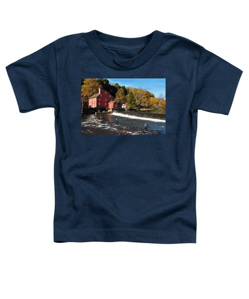 Fishing At The Old Mill Toddler T-Shirt