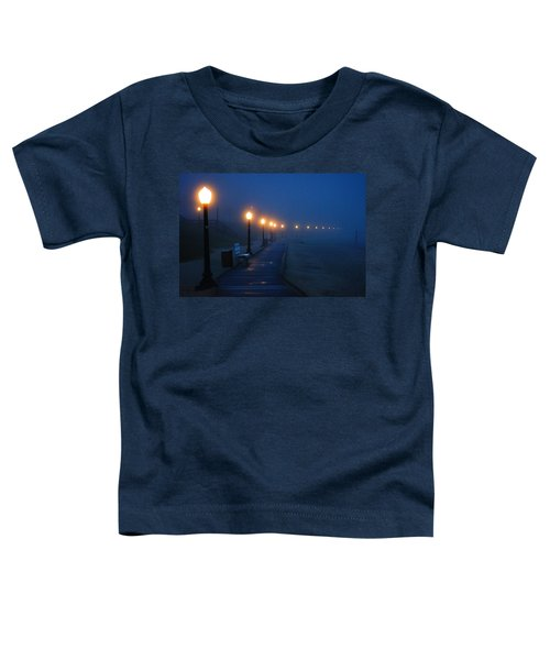 Foggy Boardwalk Blues Toddler T-Shirt by Bill Pevlor