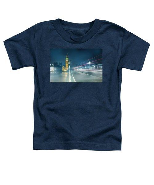 Foggy Mist Covered Westminster Bridge Toddler T-Shirt