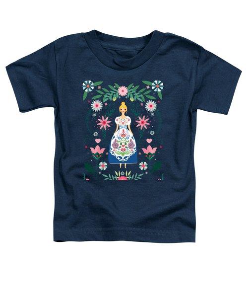 Folk Art Forest Fairy Tale Fraulein Toddler T-Shirt