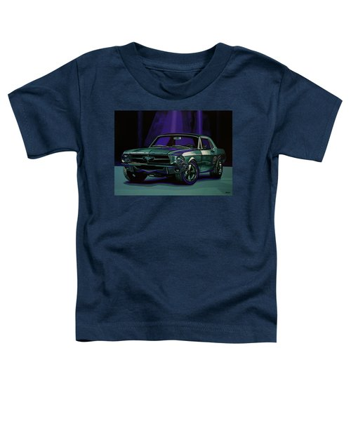 Ford Mustang 1967 Painting Toddler T-Shirt