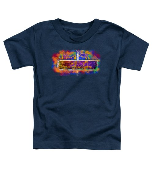 Forgive Brick Blue Tshirt Toddler T-Shirt by Tamara Kulish
