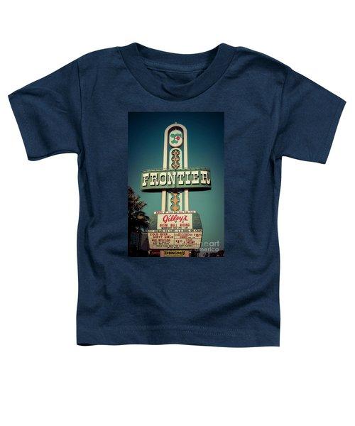 Frontier Hotel Sign, Las Vegas Toddler T-Shirt