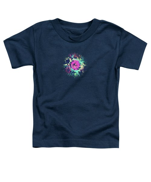 Fruity Rose   Fancy Colorful Abstraction Pattern Design  Green Pink Blue  Toddler T-Shirt