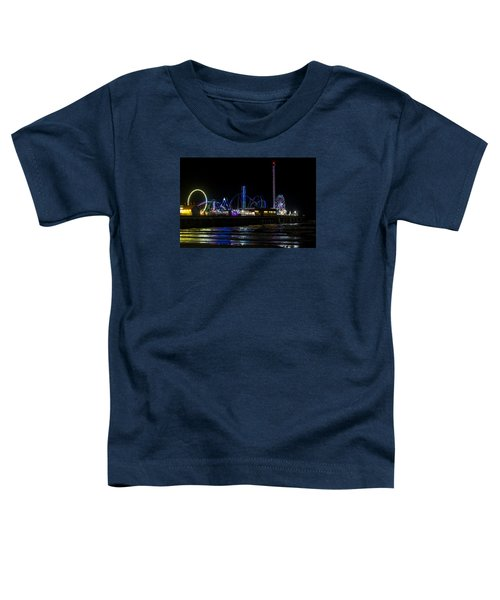 Galveston Island Historic Pleasure Pier At Night Toddler T-Shirt
