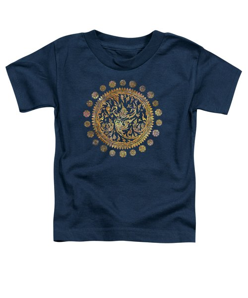 Garuda's Golden Victory - Color Edition Toddler T-Shirt by David Ardil