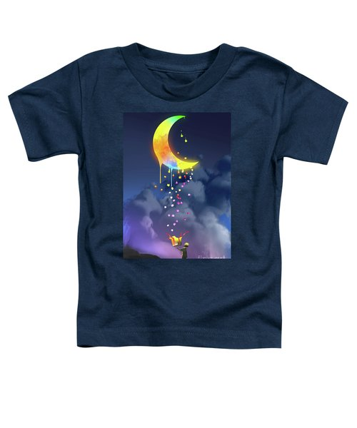 Toddler T-Shirt featuring the painting Gifts From The Moon by Tithi Luadthong