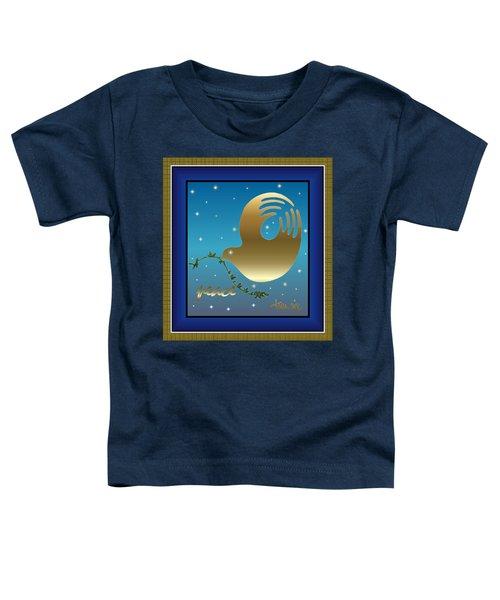 Gold Peace Dove Toddler T-Shirt