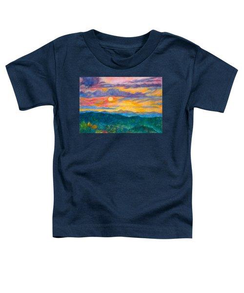 Golden Blue Ridge Sunset Toddler T-Shirt
