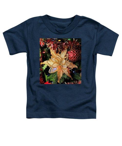 Golden Glitter Christmas Ornaments Toddler T-Shirt