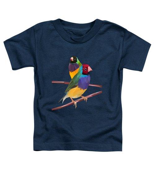 Gouldian Finch Duo Toddler T-Shirt