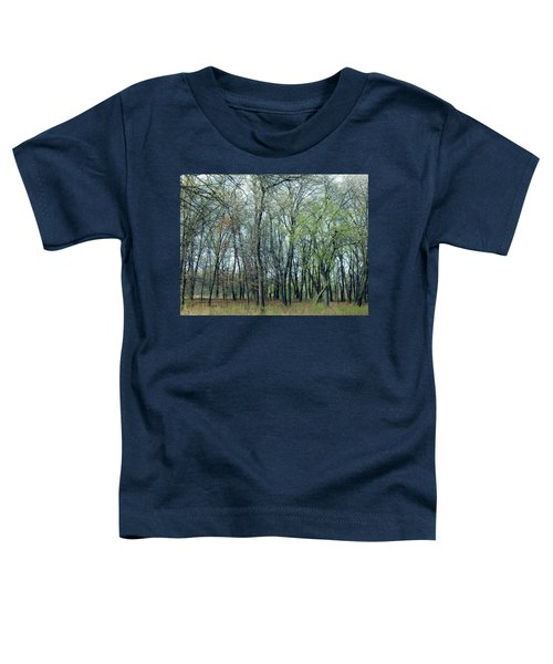 Green Pushing Out Toddler T-Shirt