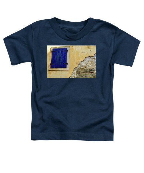 Groznjan Istrian Hill Town Stonework And Blue Shutters  - Istria, Croatia Toddler T-Shirt