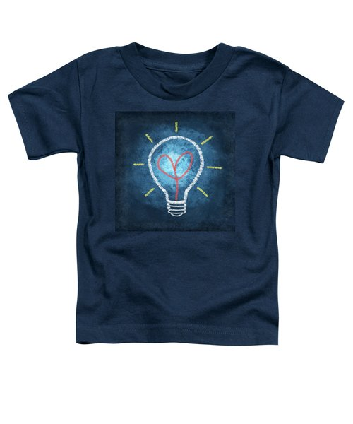Heart In Light Bulb Toddler T-Shirt