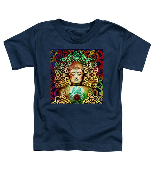 Heart Of Transcendence - Colorful Tribal Buddha Toddler T-Shirt