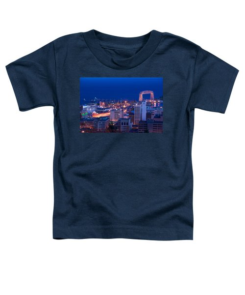 High Angle View Of A City, Canal Park Toddler T-Shirt
