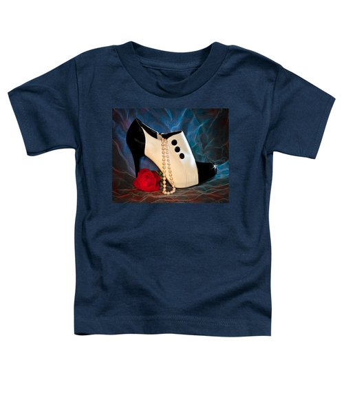 High Heel Spat Bootie Shoe Toddler T-Shirt