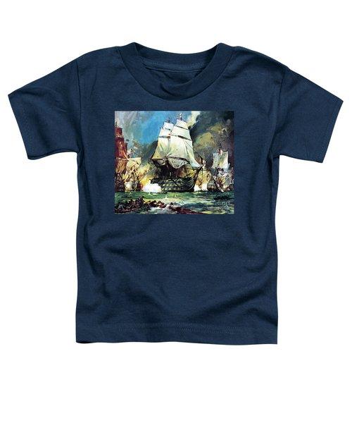 Hms Victory At The Battle Of Trafalgar Toddler T-Shirt