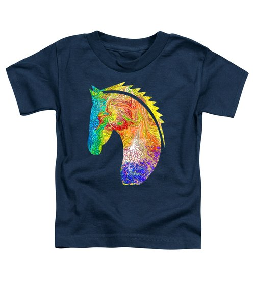 Horse Colorful Silhouette Toddler T-Shirt