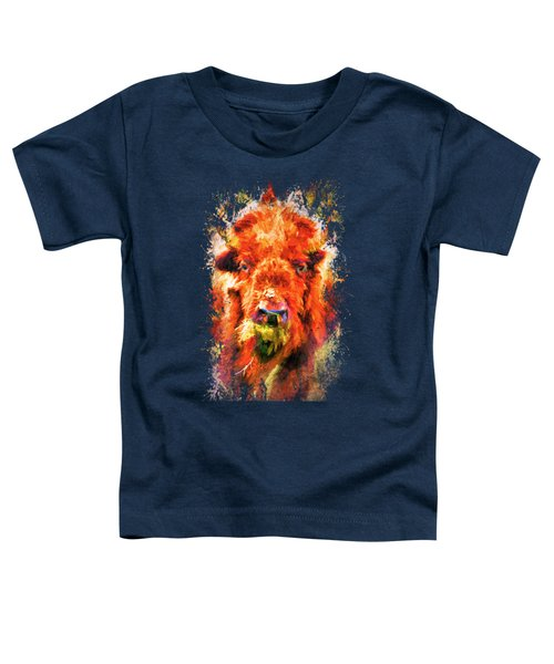 Jazzy Buffalo Colorful Animal Art By Jai Johnson Toddler T-Shirt by Jai Johnson