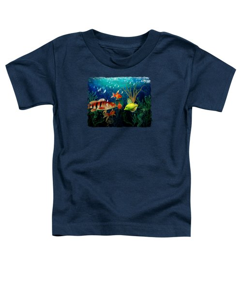 Joy To The Fishes  Toddler T-Shirt by Terry Fleckney
