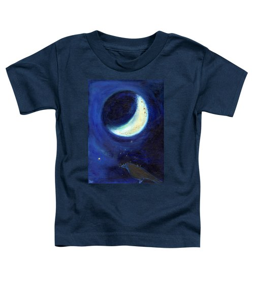 July Moon Toddler T-Shirt by Nancy Moniz