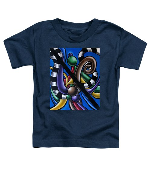 Original Colorful Abstract Art Painting - Multicolored Chromatic Artwork Toddler T-Shirt