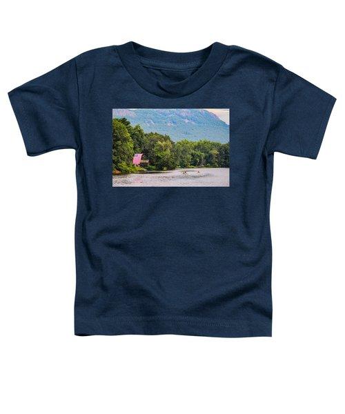 Kayaking On Nashawannuck Pond Easthampon Toddler T-Shirt