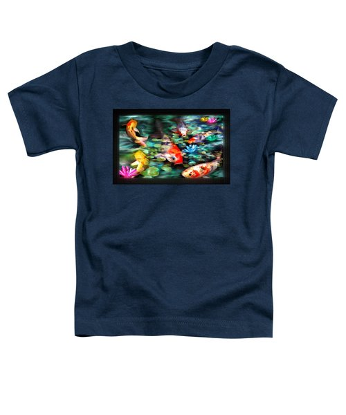 Toddler T-Shirt featuring the painting Koi Paradise by Susan Kinney