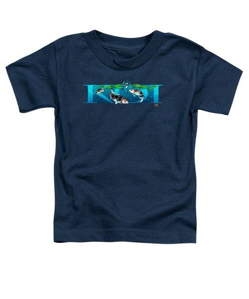 Koi With Type Toddler T-Shirt by Rob Corsetti