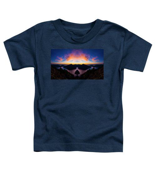 Lake Crescent Reflection Toddler T-Shirt by Pelo Blanco Photo