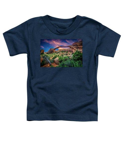Landscape Arch At Sunset Toddler T-Shirt