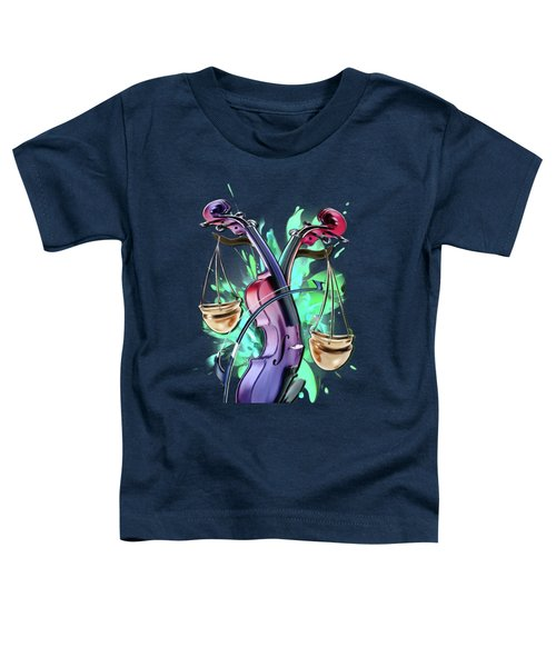Libra Toddler T-Shirt by Melanie D