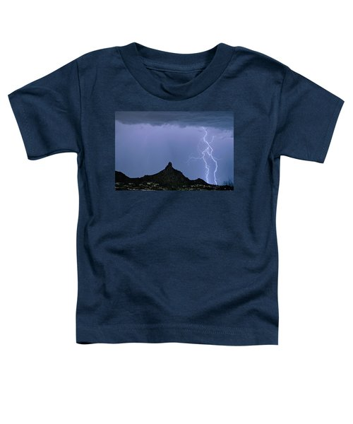 Toddler T-Shirt featuring the photograph Lightning Bolts And Pinnacle Peak North Scottsdale Arizona by James BO Insogna