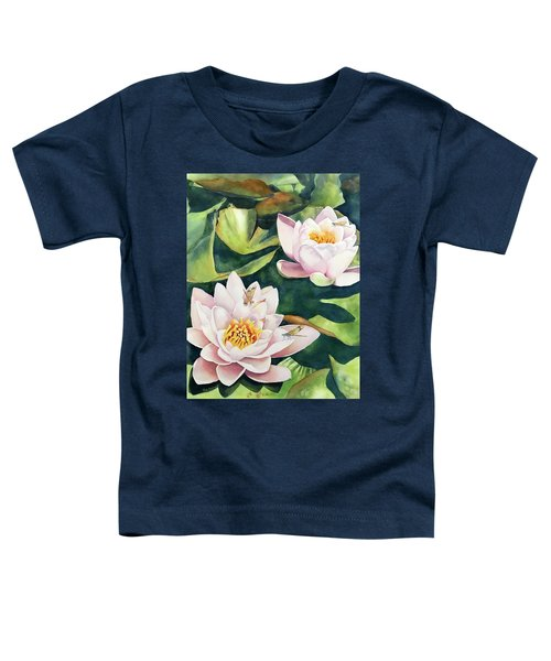 Lilies And Dragonflies Toddler T-Shirt
