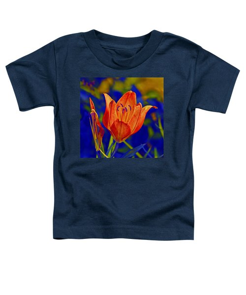 Toddler T-Shirt featuring the photograph Lily With Sabattier by Bill Barber