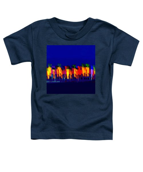 Lisse - Tulips Yellow On Blue Toddler T-Shirt