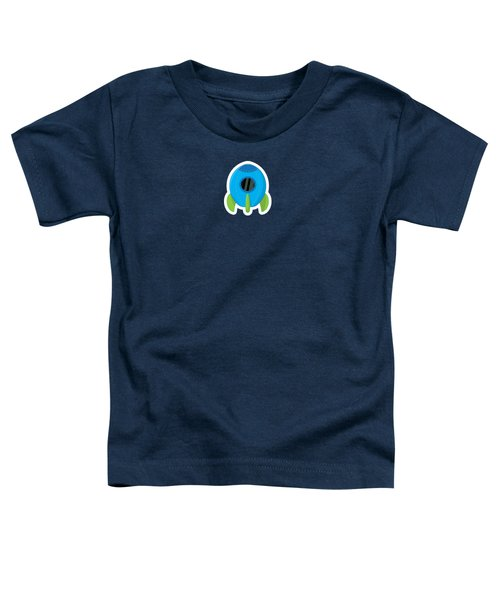 Little Blue Rocket Ship Toddler T-Shirt by Nathan Poland