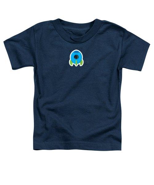 Little Blue Rocket Ship Toddler T-Shirt