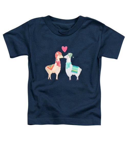 Llamas In Love Toddler T-Shirt
