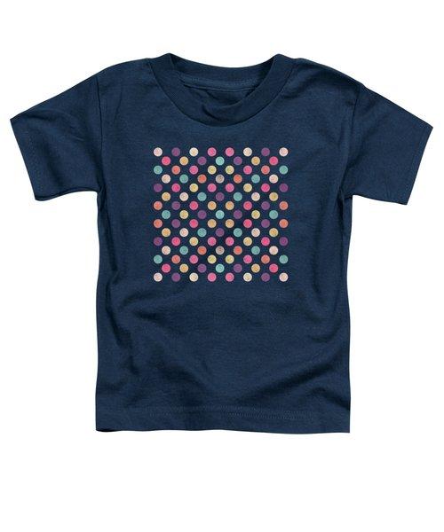 Lovely Polka Dots  Toddler T-Shirt by Amir Faysal