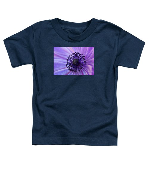 Macro Of Lavender Purple Anemone Toddler T-Shirt