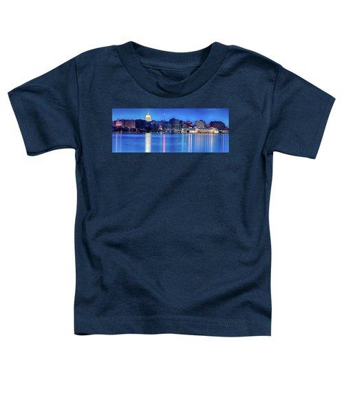 Madison Skyline Reflection Toddler T-Shirt
