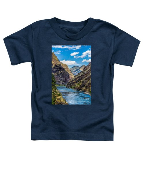 Majestic Hells Canyon Idaho Landscape By Kaylyn Franks Toddler T-Shirt