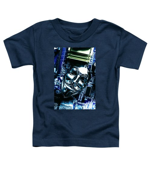 Metal Anonymous Mask On Motherboard Toddler T-Shirt