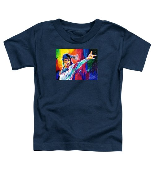 Michael Jackson Force Toddler T-Shirt by David Lloyd Glover