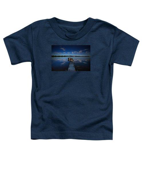 Midnight At Shady Shore On Moose Lake Minnesota Toddler T-Shirt