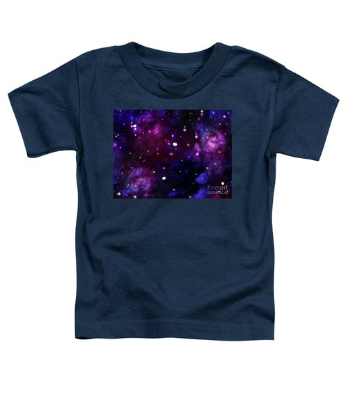 Midnight Blue Purple Galaxy Toddler T-Shirt