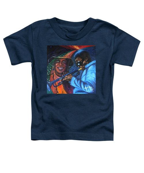 Blaa Kattproduksjoner            Miles Davis - Smiling Toddler T-Shirt